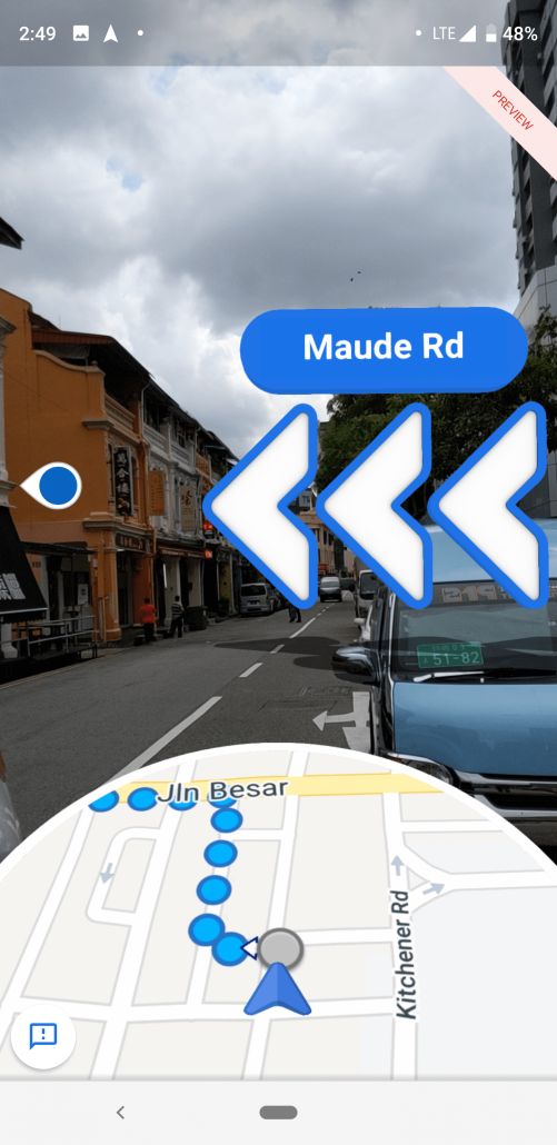 google maps augmented direction